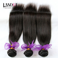 Wholesale Cheap Wholesale Hair Pieces - Virgin Brazilian Hair Straight 100% Human Hair Weaves Extensions Cheap Peruvian Malaysian Indian Cambodian Mongolian Remy Hair 3 4 5 Bundles