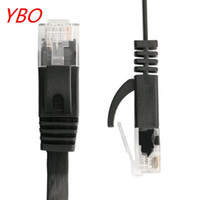parche lan al por mayor-100PCS / lot 6FT 2M CAT6 CAT 6 Cable de red Ethernet UTP plano RJ45 Cable LAN de parche ENVÍO GRATIS