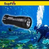 Wholesale D5 Led - SupFire dive flashlight D5 rechargeable waterproof emergency tactical outdoor hiking fish 100m use under water waterproof IP68