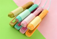 Wholesale Girl Hair Straightener - 2016 Newest Mini fruit electric splint Hair Straighteners 2in1 ceramic coated antiscaled hair straighteners Cute girl applicable straigh