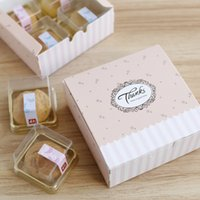 Wholesale Box For Mooncake - Pink Mooncake box For Biscuit cookie wedding candy Gift Box pastry box moon cake box wholesale ,cookies box 3 sizes 10pcs lot free shipping
