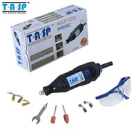 Wholesale Dremel Speed - 220V 130w Variable Speed Electric Dremel Rotary Tool Mini Drill with Safety Glasses and Accessories