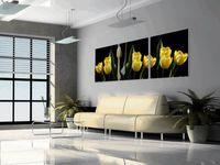 lale çiçek kanvas toptan satış-Modern Tulipa Gesneriana Çiçek Boyama Giclee Baskı Tuval Duvar Sanatı Ev Dekorasyon Set30384