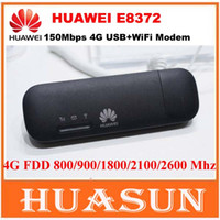 Wholesale Huawei Wireless Usb Modem - free shipping Huawei E8372 150Mbps 4G LTE Wifi Modem CAT4 USB stick PK huawei E8278 W800Z