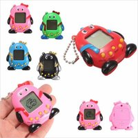 Wholesale Puzzle Games Girls - 168 Pets baby QQ penguin Electronic Pet machine Key ring Pendant Puzzle Game consoles children Keychain E-pet Toy YYA712