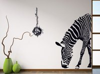 Wholesale Large Zebra Wall Stickers - Black Zebra DIY Wall Stickers Wall Poster Wall Stick Abstract Art Decor Animal Stickers Home Decoration