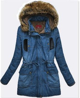Wholesale Lambs Wool Womens Jackets - Wholesale-Winter Cotton Padded Thick Lamb Wool Hooded Long Womens Jacket Warm Winter Clothes