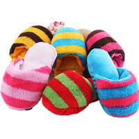 Wholesale 2015 New Arrival Creative Toy for Dogs Cute Slipper Shape Squeaky Toys Pet Supplies Puppy Chew Play Hot Sale