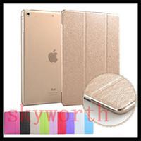 Wholesale ipad smart clear back case online - Supper Slim Smart cover clear back case for ipad Pro air mini4 Samsung tab A S2