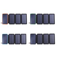 Wholesale 5v solar panel charger for sale - Group buy 8000mAh Solar Battery Panel V A Sun Power Charger Power Bank Waterproof Dustproof Power Supply Charge with LED Light