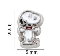 Wholesale Dog Floating Charms - 20PCS lot Cartoon Dog DIY Floating Locket Charms For Glass Living Memory Lockets Fashion Jewelrys Gift for Women
