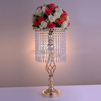 70cm Rhinestone Candelabra Wedding Party Элегантный держатель свечи Pretty Table Centerpiece Ваза подставка Crystal Candlestick Wedding Decoration