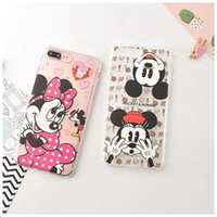 Wholesale Iphone Frog Case - For Iphone 7 I7 IPhone7 Plus Cartoon Stitch Soft TPU Silicone Gel Case Mickey Minnie Mouse Frog Transparent Clear Phone Skin Cover 20pcs