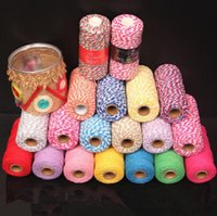 Wholesale Craft Bakers Twine - 100M roll 2mm Cotton Rope Cord Gift Packing Bakers Twine Decorative Handmade Accessory String Craft Jewelry Making DIY Free Shipping