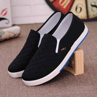 Wholesale Cheap Wholesale Loafer Shoes - Wholesale-2016 Spring And Autumn Canvas Lazy Shoes Low Breathable Casual Men Shoes Light Slip On Shoes Loafers Comfortable Cheap Shop Blue