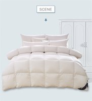 Wholesale White Down King Size Comforter - SUPER LUXURIOUS KING QUEEN TWIN SIZE Duck Down Alternative Comforter, 80 Thread Count 100% Cotton Cover, 90% down Fill Power, Solid White an