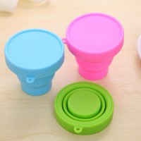 Wholesale NEW Portable Travel Foldable Bottle ML Cup Silicone Telescopic Candy Color Outdoor