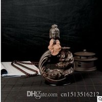 Wholesale Exquisite Chinese Carving - 2016 Chinese Ceramics handmade crafts exquisite decorations Sam West dual back burner Incense burner with 30 Incense cone Arts and Crafts