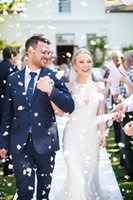 Wholesale Chapel Mermaid Sleeveless - Elegant Floral Lace Wedding Dresses 2016 Sheer Jewel Neck Appliques Bridal Gowns Sleeveless Chapel Train Mermaid Wedding Gowns