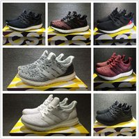 Wholesale Rainbow Men - Ultra Boost 3.0 Running Shoes Real Boost Triple White Black Oreo CNY Blue REIGNING CHAMP Black Rainbow Men Women UltraBoost Sports Sneakers
