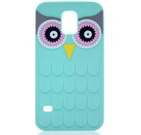 Wholesale Owl Phone Covers - 3D Cute Cartoon OWL Soft Silicon Rubber Phone Back Case Cover for Iphone 5s 6 6s plus 7 7 plus