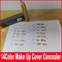 Wholesale Free Covers - 14color Base Make Up Cover Primer Concealer Professional Face Foundation Contour Palette 30g 14 Colors Free Shipping