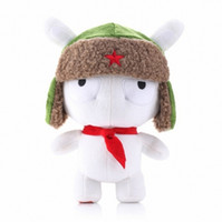 Wholesale Mi Rabbit - Wholesale-100% Real Genuine Xiaomi rabbit Cute Mini Rabbit Toy Doll Real Fur 25cm Mi rabbit toy MiTu rabbits Accessories product