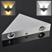 aşağı led led duvar lambası toptan satış-3 W Yüksek Güç 3 LED Yukarı Aşağı Duvar Lambası Spot Işık Modern Yolu Aplik Aydınlatma