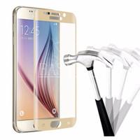 kutu filmleri toptan satış-Tam Kapak Temperli Cam Ekran Koruyucu Güvenlik Sertlik Filmi Samsung Galaxy S6 kenar / S6 kenar artı / S7 / S7 kenar yok kutu