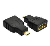 hdmi macho hembra micro al por mayor-Comercio al por mayor 300 Unids / lote HDMI Hembra a Micro HDMI Tipo D Adaptador Macho F / M Convertidor HD Cámara de TV para adaptador hdmi
