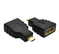 hdmi tv anschluss groihandel-Großhandel 300 Teile / los HDMI Buchse auf Micro HDMI Typ D Stecker Adapter F / M Konverter Stecker HD TV Kamera für hdmi adapter