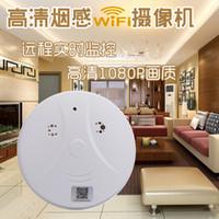 Wholesale Smoke Detector Video Recorder - 1080P Spy Camera Wireless WiFi Hidden Cam Smoke Detector HD Mini Cameras Video Spy Recorder Mini DV DVR Camcorder home security monitor