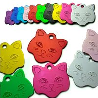 Wholesale New alloy Cat head Pet Tag pendant diy pendant charms dog tags Pet Dog Cat ID Card Tags IB244
