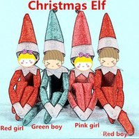 Wholesale Soft Plush Pet Toys - Christmas Elf Doll Plush toys Elves Xmas dolls and Soft Books on the shelf Reindeer pets With Book For Kids Holiday Christmas Gift