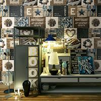 Wholesale Tea Sound - Retro Personality Fashion Pattern Wood Grain PVC Wallpaper Roll For Restaurant Milk Tea Shop Cafe Art Wall Decorative Wallpaper
