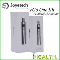 Wholesale Ego Passthrough Joyetech Kit - Joyetech eGo ONE Starter Kit 1100mah 2200mAh Passthrough Battery with 1.8ml 2.5ml eGo One Atomizer Adjustable Airflow 100% Original