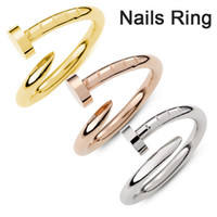 "Wholesale South Korean Hot Models - HOT Fine copper Screw nail Finger Ring Fashion star models of style Korean drama ""You come from the stars"""