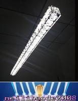 Wholesale Long Hanging Lights - AC 110V 220V 230V Modern L70cm Long Bar LED crystal Chandelier Dining room Kitchen Restaurant office hanging pendant lamp lighting MYY