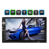Wholesale mp5 player bluetooth - 7 inch Universal 2 Din HD Bluetooth Car autoradio MP5 Player Multimedia Radio Entertainment USB TF FM Aux Input Car DVD