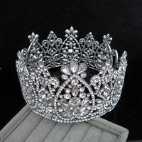 Wholesale wedding hair royal crown online - Bridal Crown Queen Rhinestone Crystals Royal Wedding Crowns Crystal Stone Headband Hair Masquerade Studio Molding Birthday Party Tiaras