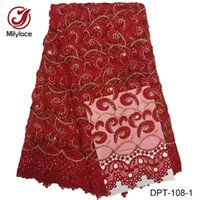 Wholesale French Style Fabric - African lace fabric 2017 high quality lace with stones 12 colors nigerian style Embroidery French net lace for dress DPT-108