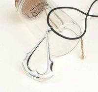 ожерелья для ассасинов оптовых-Assassin Creed Game Ожерелье Кулон Deiss Mond Подвески Ожерелья Золото Серебро Ожерелье Шарм Заявление Ювелирные Изделия Подвески DHL