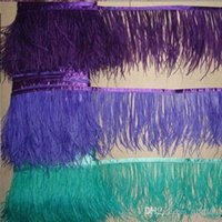 Cheap Ostrich Pluma Fringe 10m Feather Correa Carnaval Decoración Fringes Vestido Accesorios Ostrich Feather Trims Fast Shipping