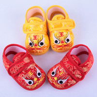 Wholesale Tigers Shoes Wholesale - Baby Shoes Baby Boys Girls Tiger Shoes Infant Soft Sole First Walker Shoes Newborn Toddler Shoes