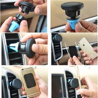 2016 Universal Car Air Vent Mount Stand Magnetic Sticky Mobile Phone Holder para iPhone 6s / 4S Samsung S6 HTC Xiaomi Telefon Tutucu