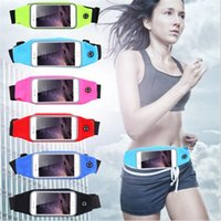 Wholesale Iphone Waist Holder - Bags Outdoor Sports Gym Waist Cell Phone Case For iPhone 6 6s 7 Plus Screen Card Holder Earphone Hole Belt Running Wallet