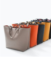 Wholesale Wholesale Used Bags Brands - 20PCS lot Brand women Shoulder bags Totes bags Double Colors Double Sided Use handbag Fashion bags