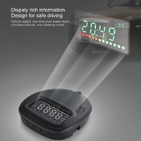Wholesale Vehicle Compasses - A1 Universal Car GPS smart HUD UP Head Up Display Vehicle Alarm Security System Speedometer Compass KMH MPH