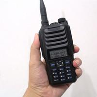 Wholesale Programmable Radio - Professional UHF VHF Handheld Walkie Talkie TS589 Dual Band 2 Way Radio Programmable Radio 256 Channels with Cloning Cable