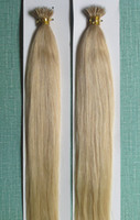 Wholesale Light Blonde Bead Extensions - 5A Grade Straight 100 Beads +1g*100s 10-28'' Nano Rings Prebonded Black Brown Blonde Mix Color 100% Indian Remy Human Hair Extensions